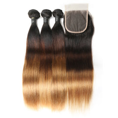 Straight 1B/4/27 Lot de 3+Closure