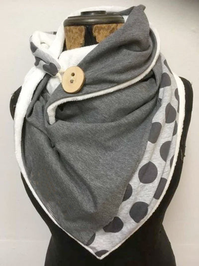 Gray Casual Cotton-Blend Plain Scarves & Shawls
