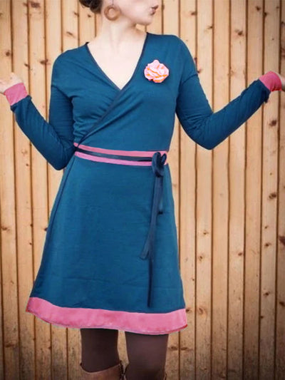 Green Long Sleeve Vintage Dresses