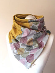 Yellow Holiday Floral Scarves & Shawls