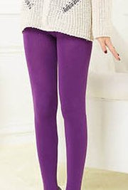 Women Stretch Plain Leggings & Socks