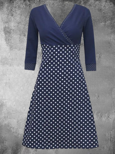 Polka Dots Long Sleeve Casual Dresses