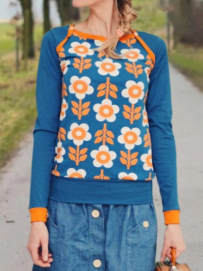 Casual Long Sleeve Floral-Print Shirts & Tops