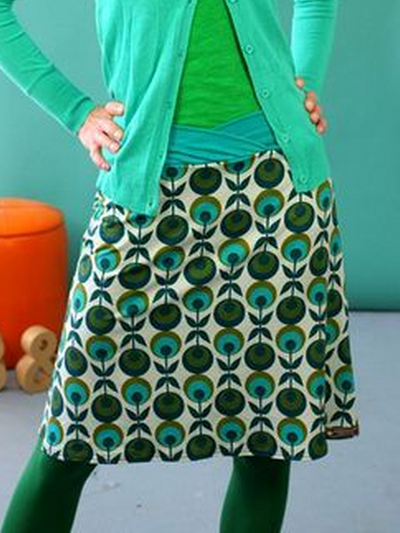 Casual Printed Cotton-Blend Skirts