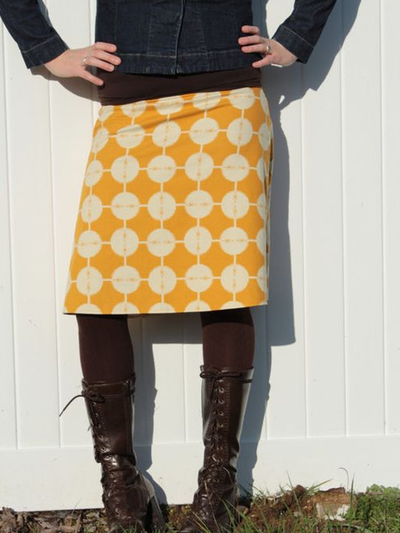 Casual Cotton-Blend Printed Skirts