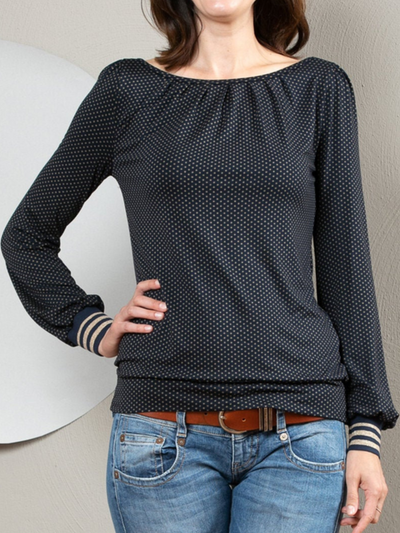 Crew Neck Casual Long Sleeve Shirts & Tops