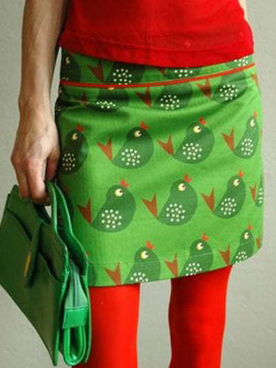 Green  Printed Floral Skirts