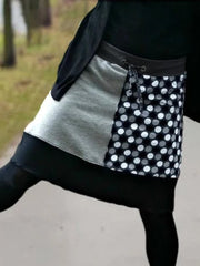 Polka Dots Casual Cotton-Blend Skirts