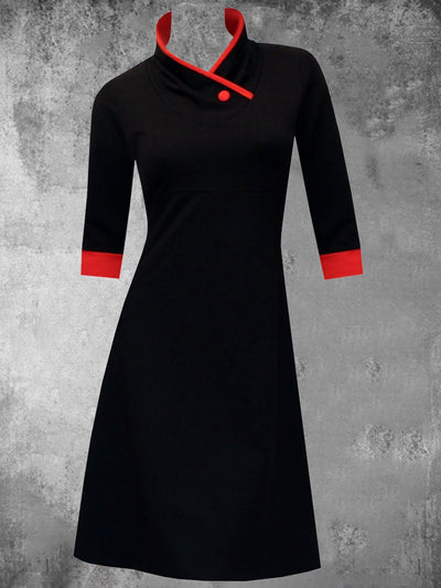 Plain 3/4 Sleeve Casual Dresses