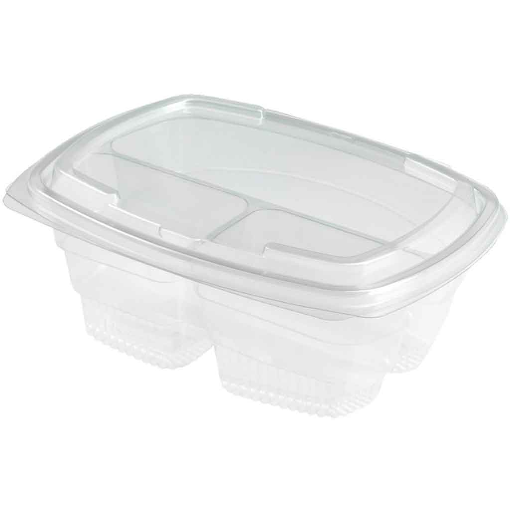 Green Planet Fresco 3 Compartment Bowl 750Cc | 13317/F Disposable Food Packaging Green Planet