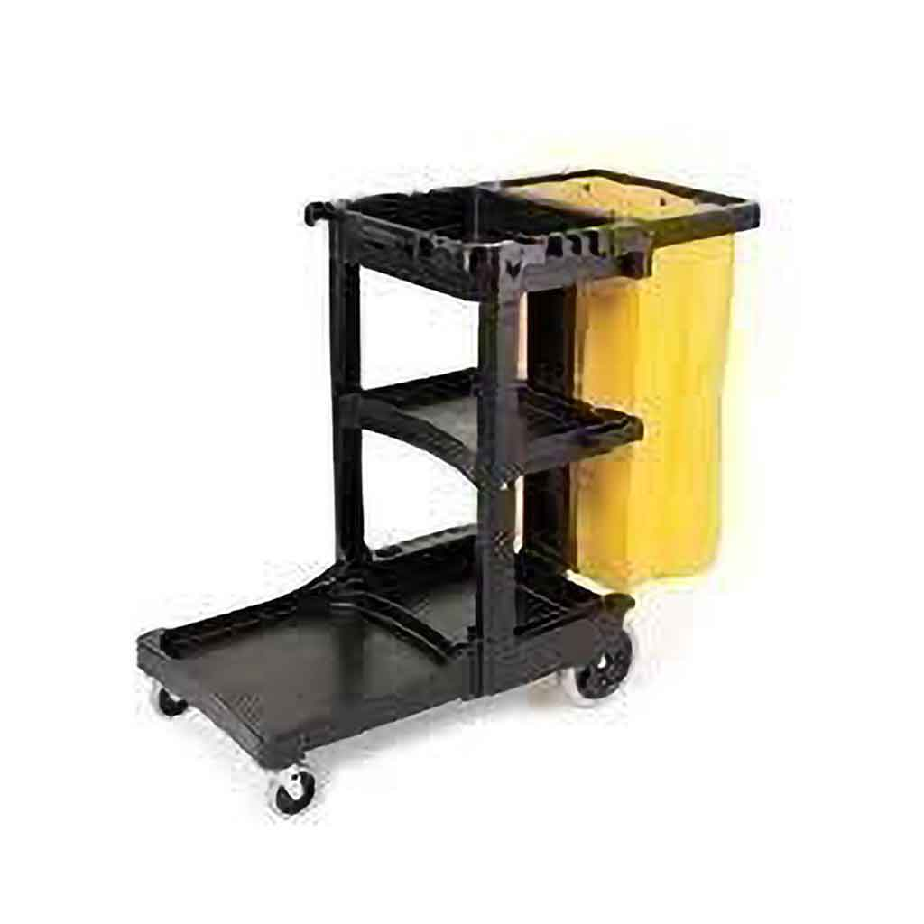 Rubbermaid Commercial Janitorial Cleaning Janitor Cart | 1805985 Carts and Vacuums Rubbermaid