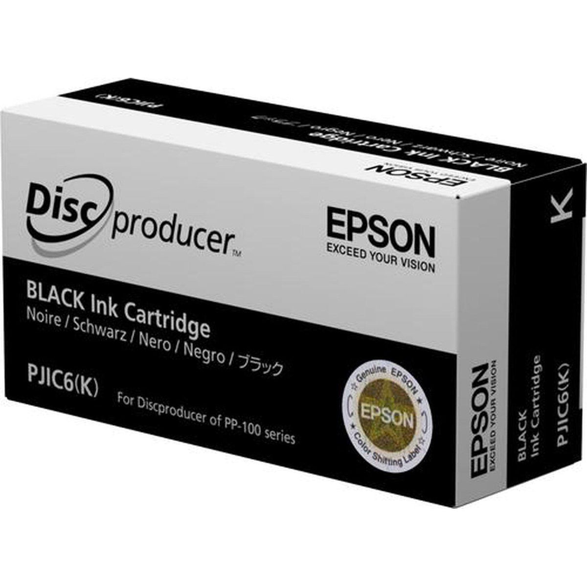 Epson Discproducer Ink Cartridge PJICj, Black | C13S020452 Consumable Epson
