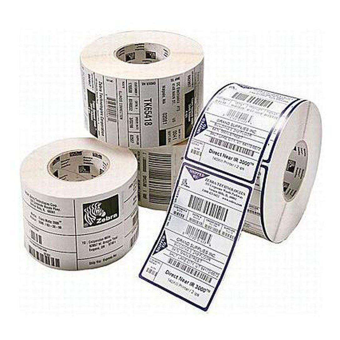 Zebra Z-Perform 1000D Direct Thermal Perforated Paper Label 102mm x 102mm, White | 3008871-T Consumable Zebra