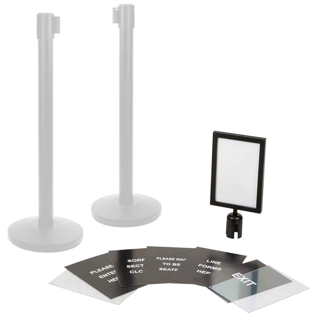 Catering Essentials Black Colour Sign Board Fit A4 | A009 Signage Catering Essentials