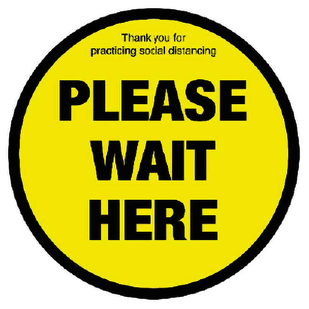 Catering Essentials Please Wait Here Ant-Slip Vinyl Sign | S400-PWH Signage Catering Essentials