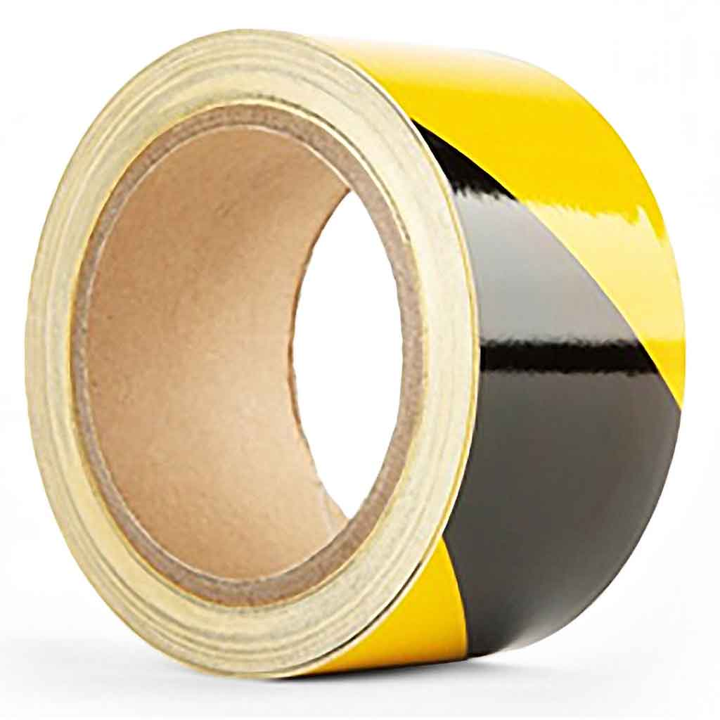 Catering Essentials Yellow/Black Hazard Tape 50Mtr | 5033/BY Signage Catering Essentials