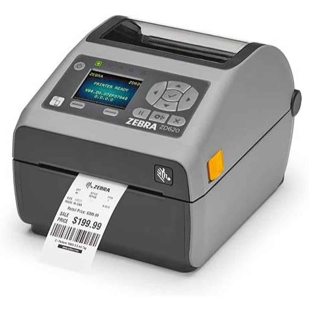 Zebra ZD620 DT Label Printer 203DPI Bluetooth, Ethernet, USB | ZD62042-D0EF00EZ Label Printer Zebra