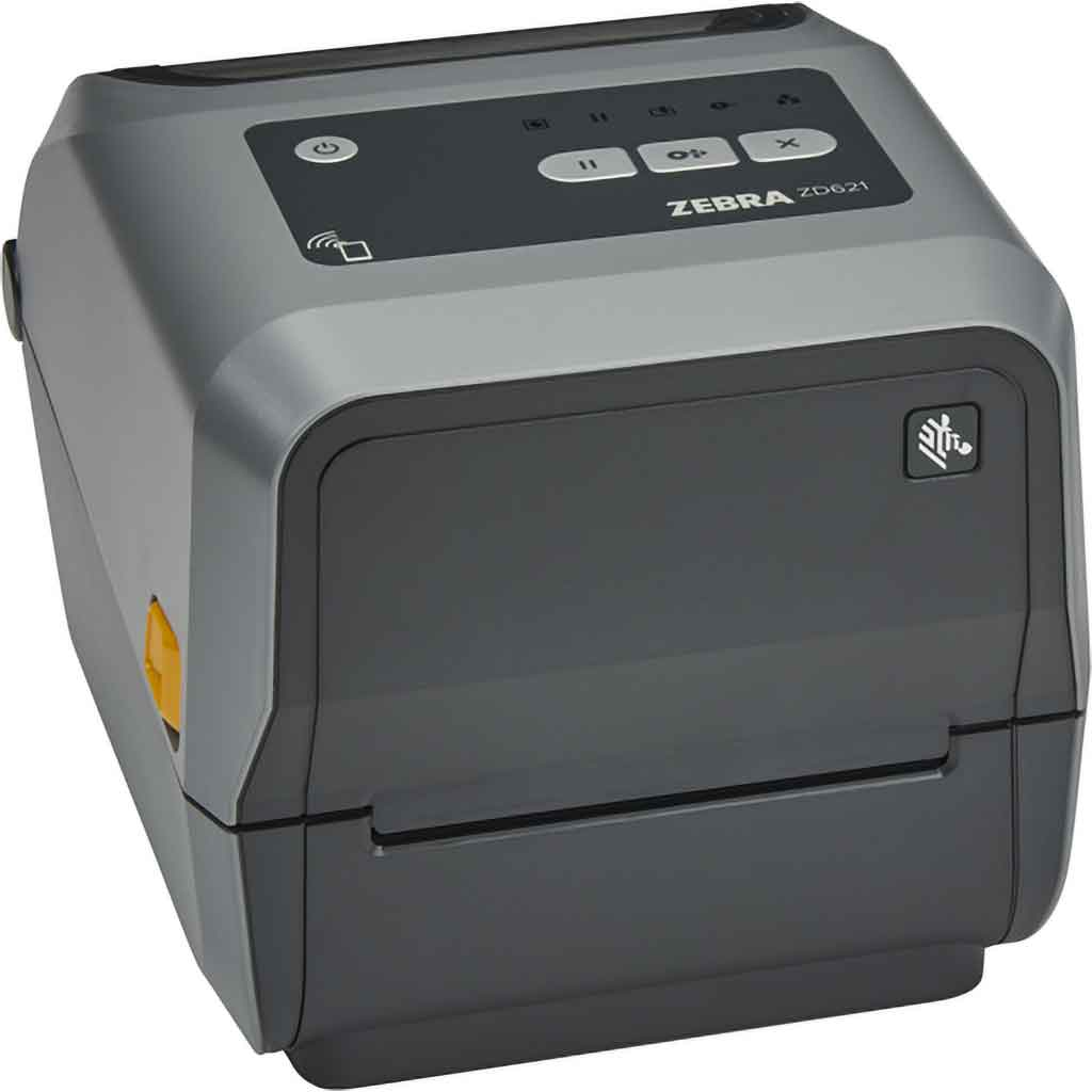 Zebra ZD621 Thermal Transfer 203DPI Label Printer, Bluetooth, Ethernet, USB | ZD6A042-30EF00EZ Label Printer Zebra