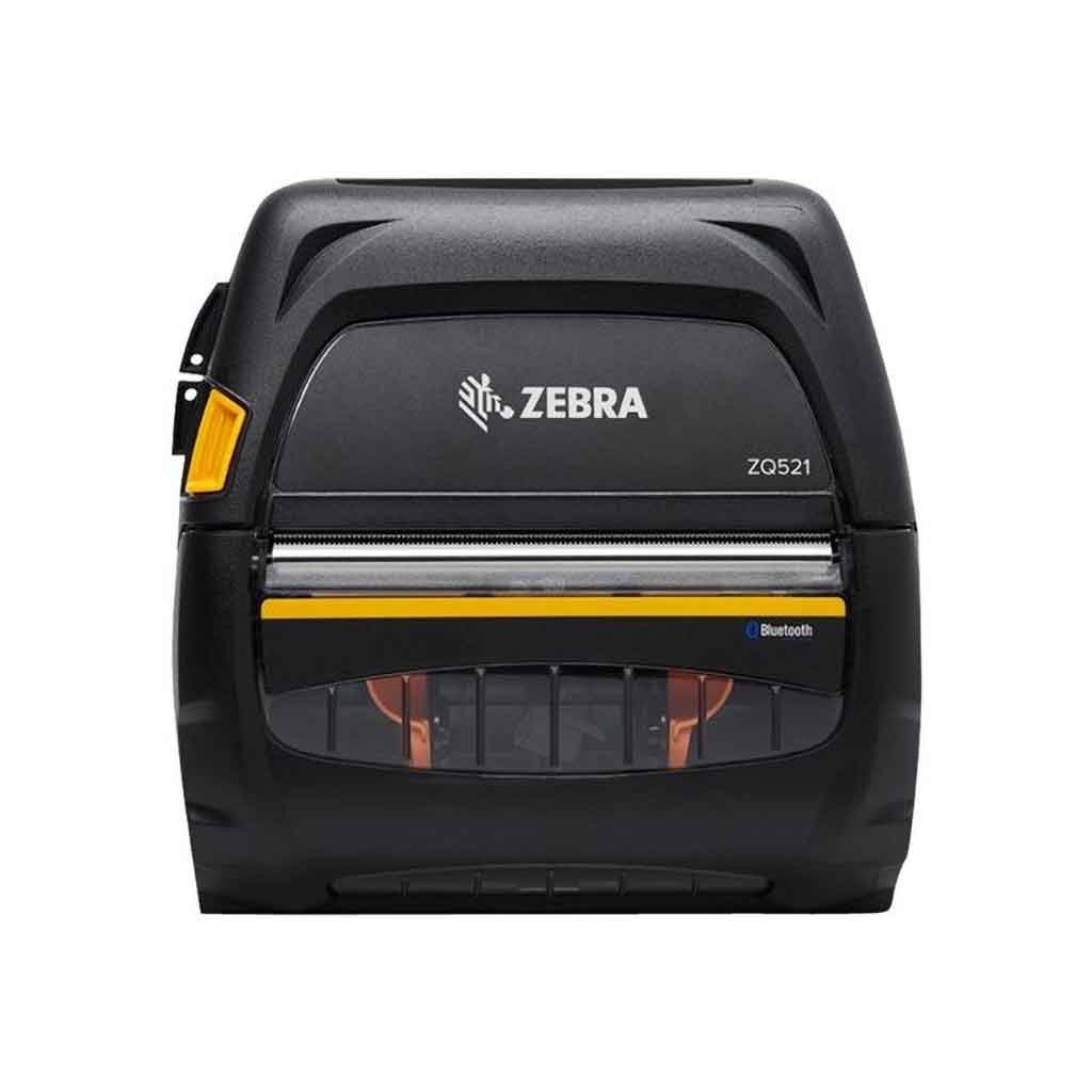 "Zebra ZQ521 Direct Thermal 4"" Mobile Printer 203DPI, WiFi, Bluetooth, Link-OS 