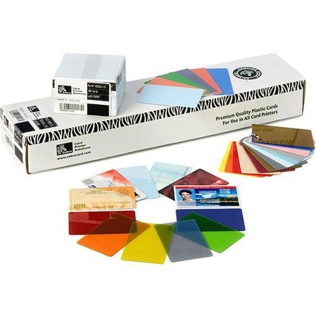 Zebra Premier Colour PVC Cards, Gold Metallic | 104523-133