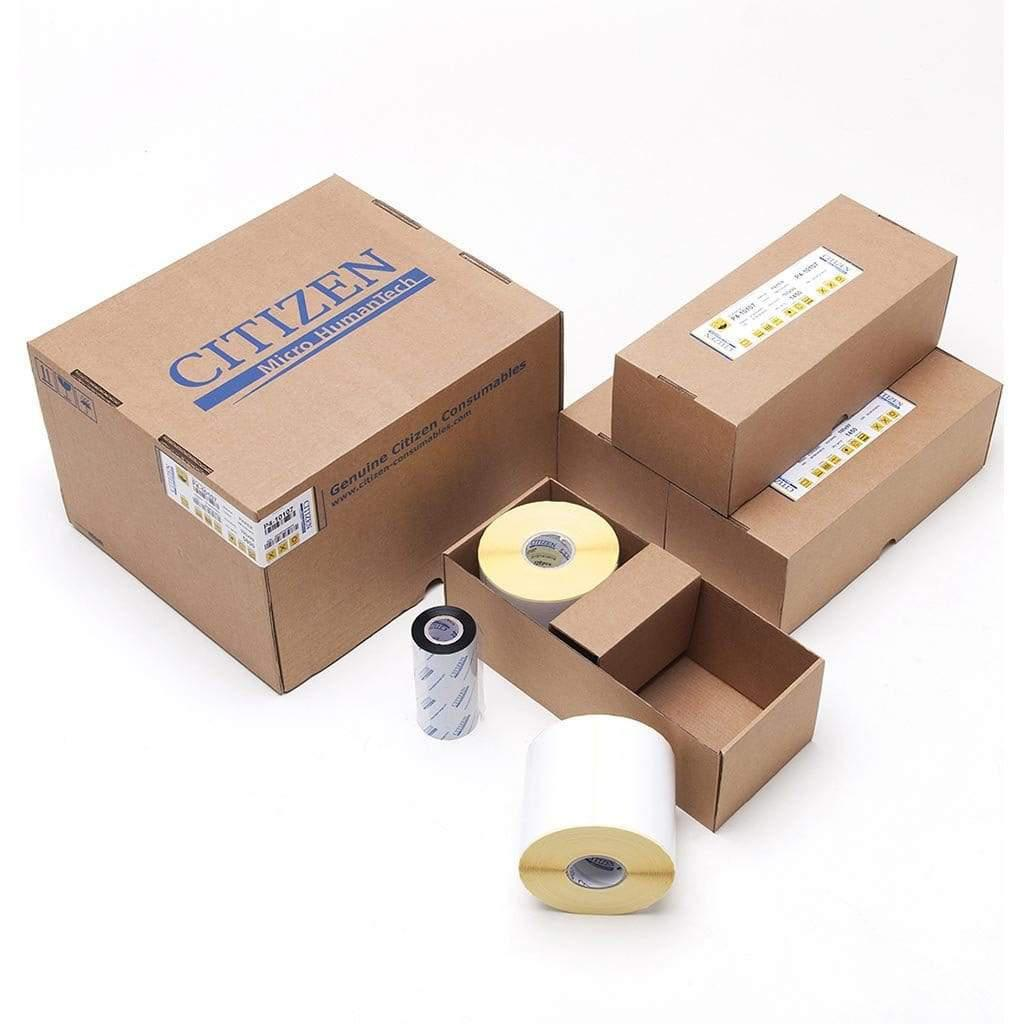 Citizen Consumables P4-10107 Citizen Box Pack 100x99 Paper White Label, Wax Ribbon