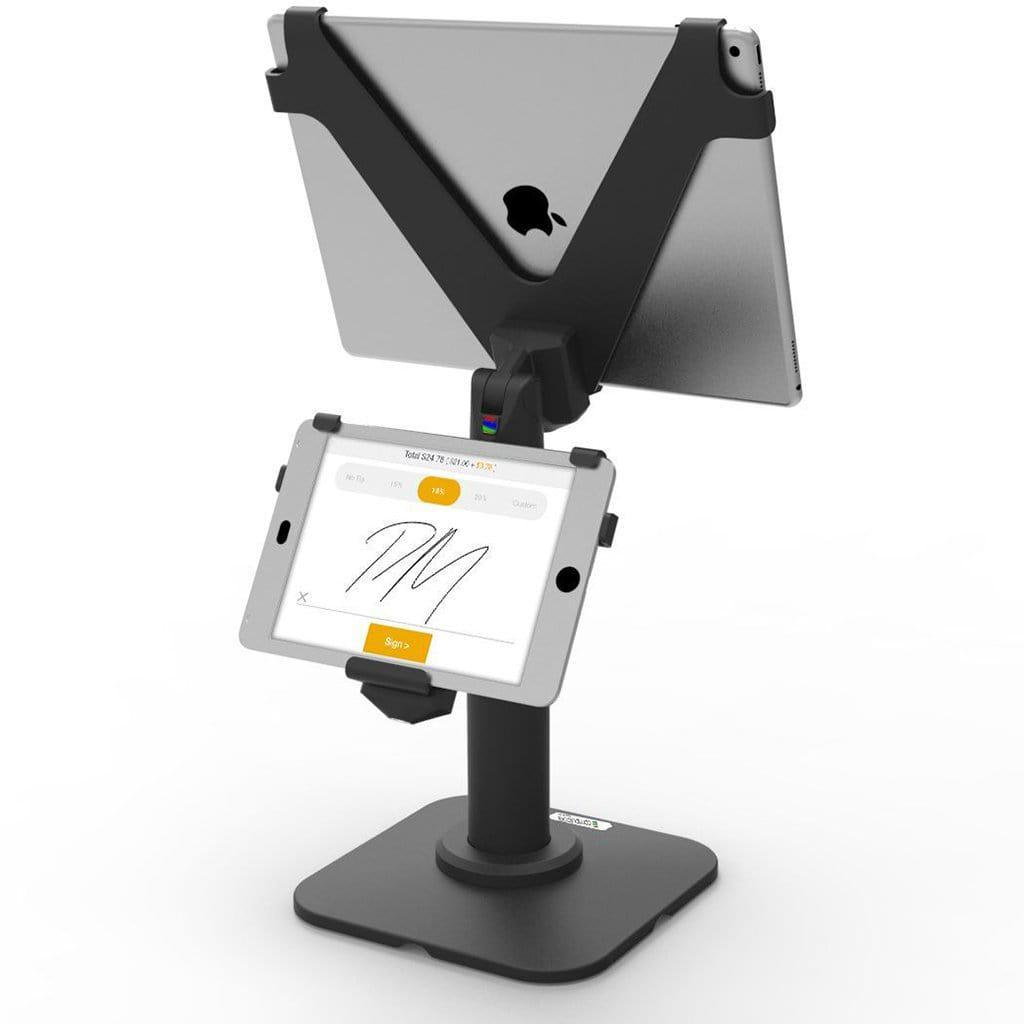 Compulocks V-Bracket Dual iPad POS Kiosk Pole Stand | CVPA103BCVFF103B POS Stands & Mounts Compulocks