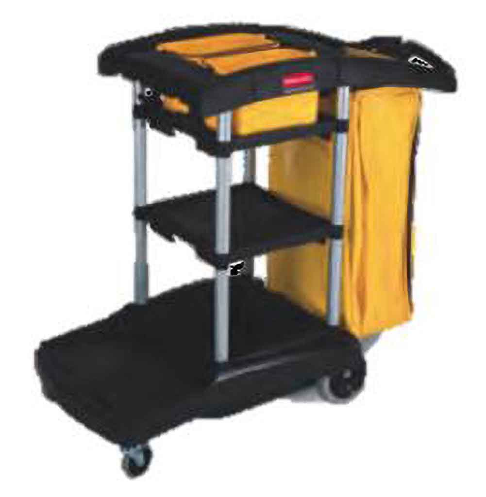 Rubbermaid High Capacity Janitor Cart | FG9T7200BLA Carts and Vacuums Rubbermaid