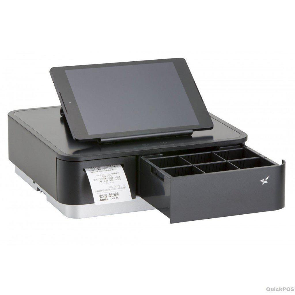Star Micronics mPOP Cash Drawer and Receipt Printer, Black | 39650291 Receipt Printer Star Micronics