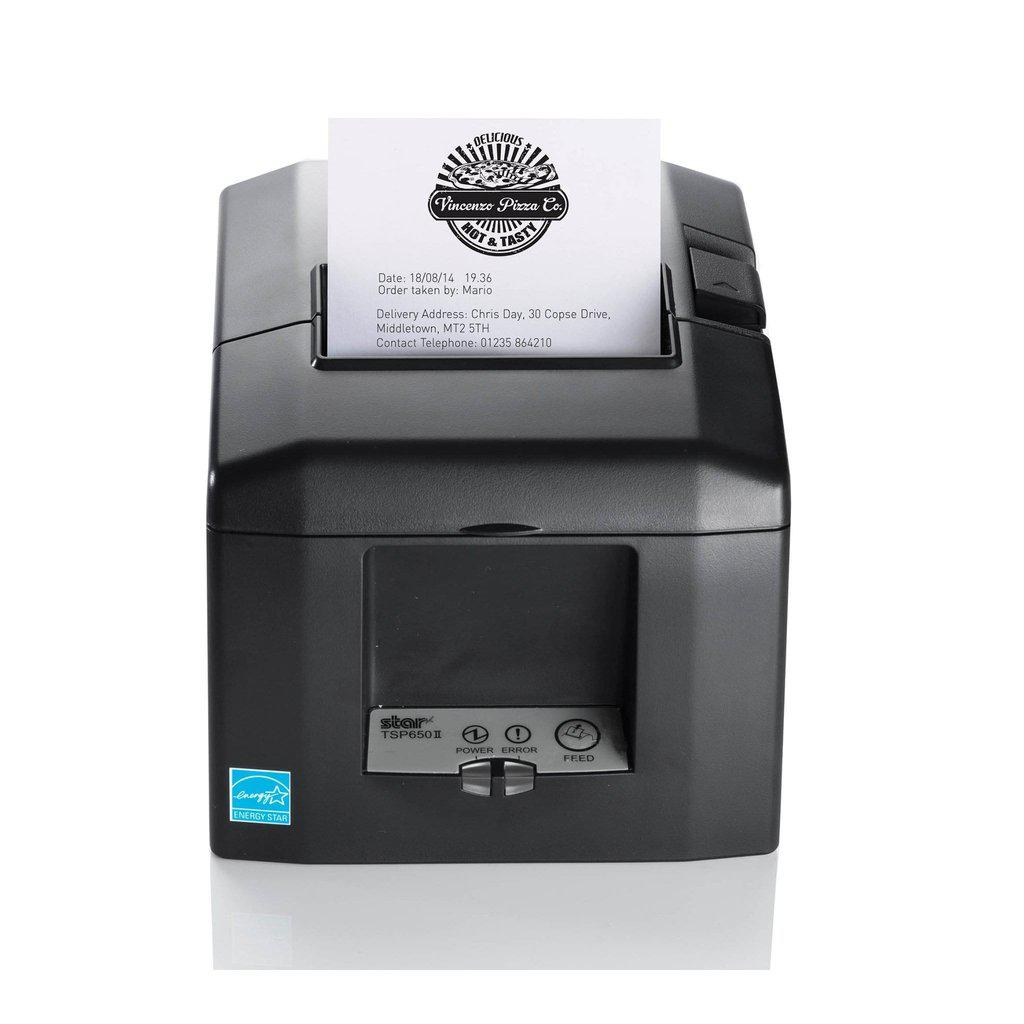 Star Micronics Receipt Printer Grey Star TSP654II Apple AirPrint POS Printer