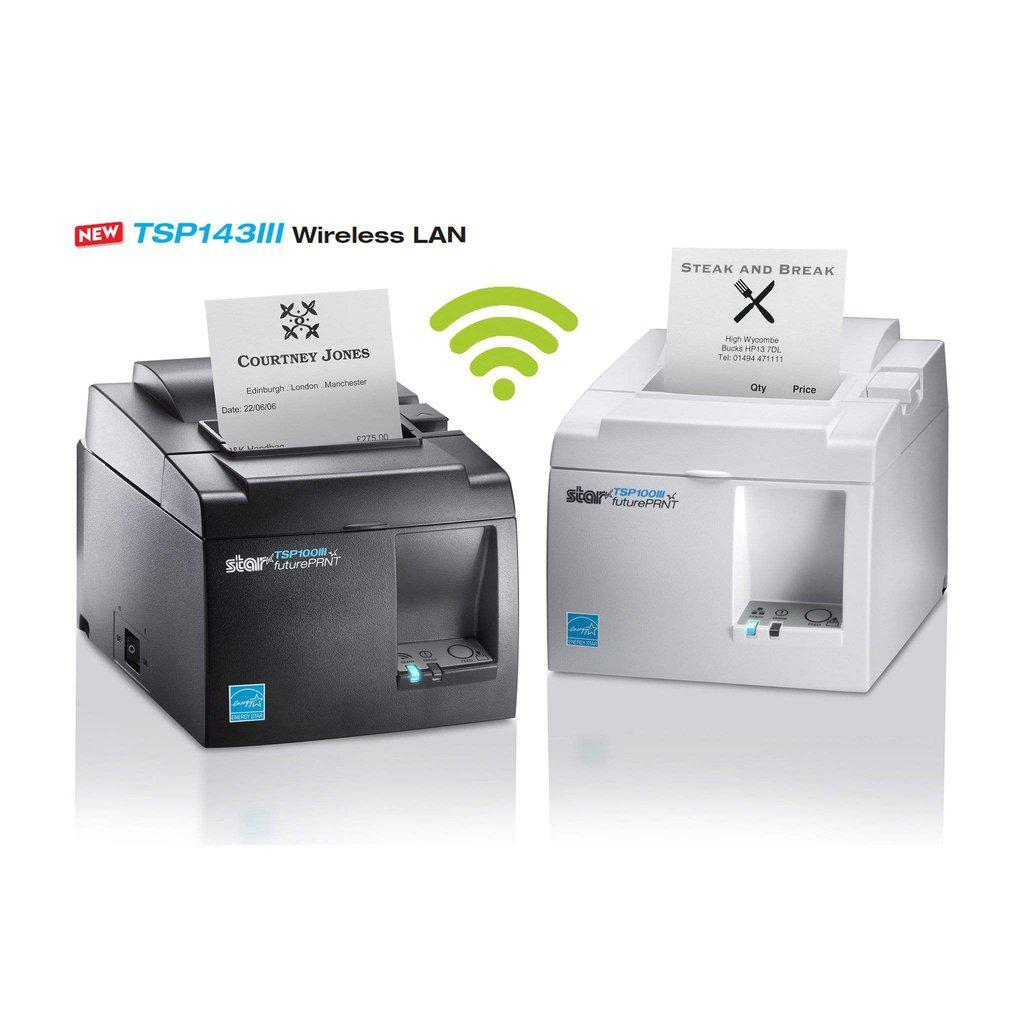 Star Micronics Receipt Printer Ultra White Star TSP143IIIW WiFi POS Receipt Printer