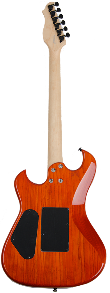 Electra Phoenix H Guitars Trans Orange back