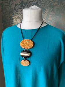 Chunky Necklace in Lighter Brown