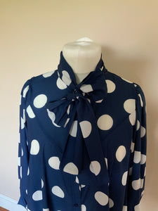 Polka Dot Top With Tie