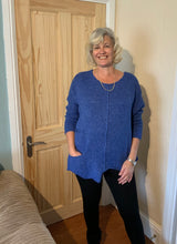 Load image into Gallery viewer, Loose Knit jumper Blue