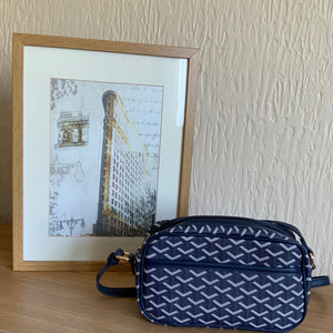 Navy & White Bag