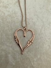 Load image into Gallery viewer, Double Sided Heart Necklace
