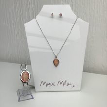 Load image into Gallery viewer, Miss Milly Iridescent Necklace, Bangle & Earrings