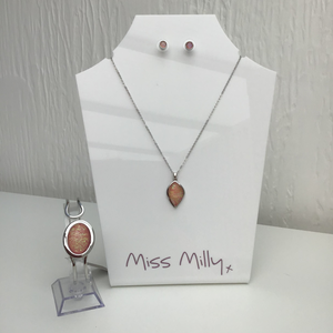 Miss Milly Iridescent Necklace, Bangle & Earrings