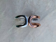 Load image into Gallery viewer, Rose Gold & Silver Hinged Cast Bangle