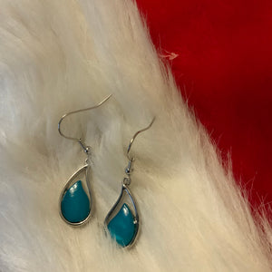 Miss Milly Aqua Droplet Earrings