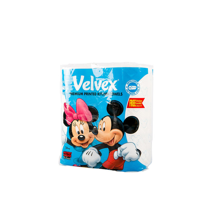 Velvex mickey & minnie kitchen towel 80's | twin roll