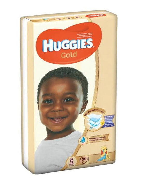 Huggies Gold Size 5 diapers (12+ kgs) | 38pcs
