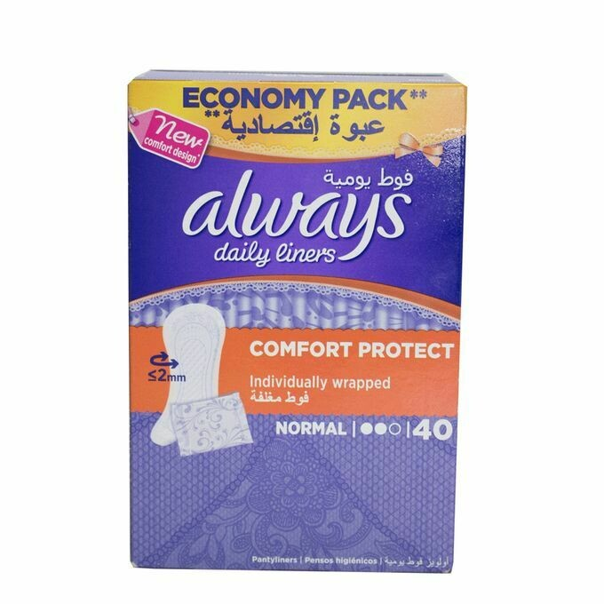 Always Panty Liners Everyday Normal Economy | 40's x 14