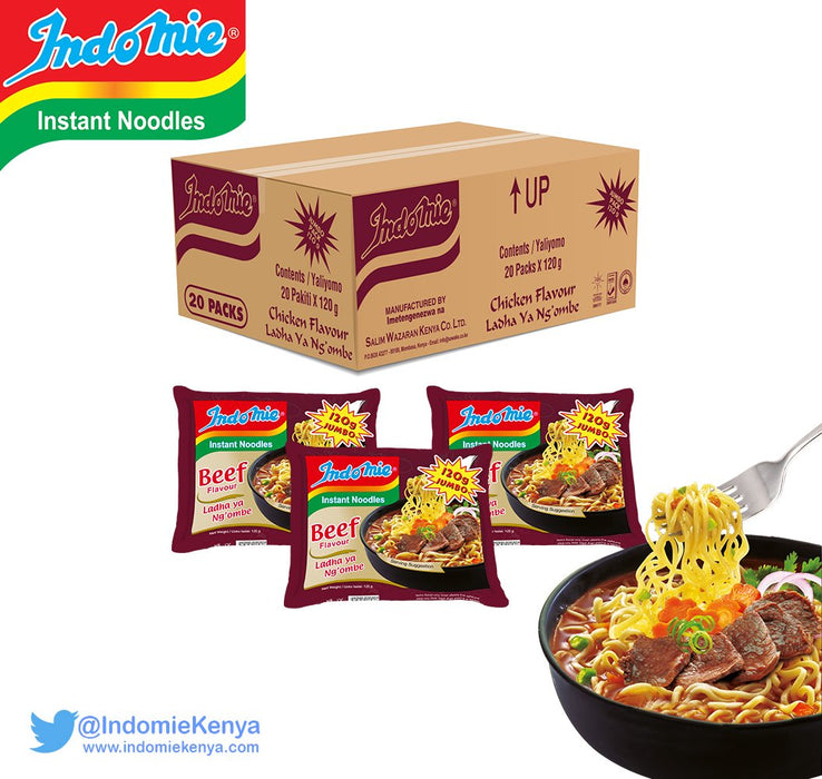 Indomie Beef Jumbo (Brown) | 120g*4 Ksh125.00