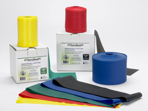 TheraBand 25 Yd Latex-Free Rolls--All Resistance Colors