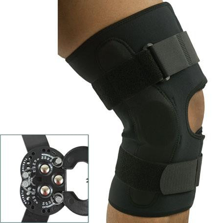 Covered Hinge Dual ROM Knee Brace L1832