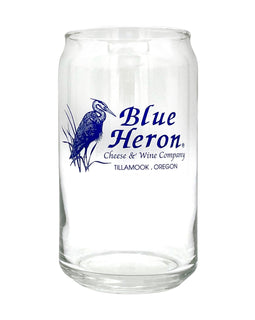 Blue Heron 16oz Beer Can Glass