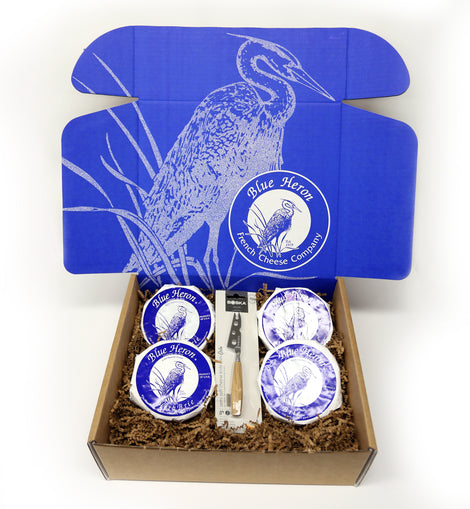 Blue Heron Brie Flight Box