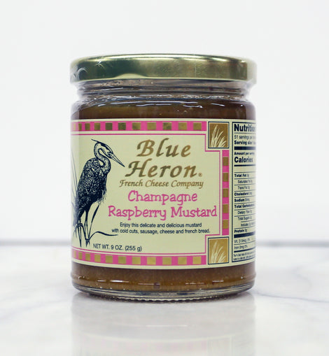Blue Heron Mustard - Champagne and Raspberry 9oz