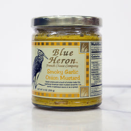 Blue Heron Mustard - Smoky Garlic Onion 9oz